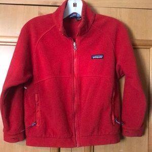 Patagonia Kids sz 7/8 fleece full zip jacket